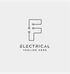 Connect or electrical f logo design icon element vector