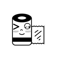 Contour kawaii cute funny gauze medical tool vector