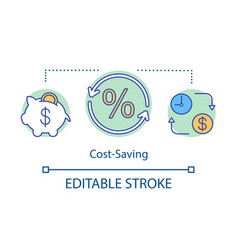 cost-saving concept icon vector image
