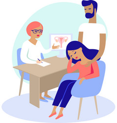 couple having consultation vector image