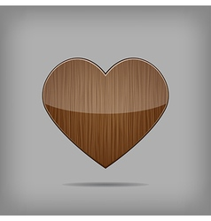 Creative wooden heart vector