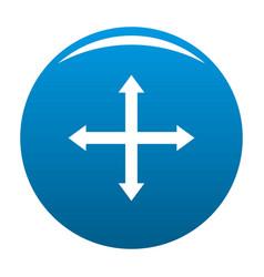 Cursor displacement web icon blue vector