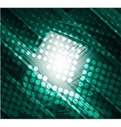 Dark green abstract technology background vector