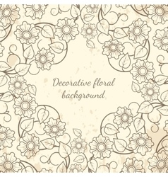 Decorative floral background vintage style vector image