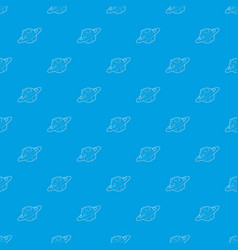 earth planet pattern seamless blue vector image