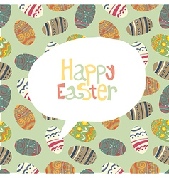 easter greeting card retro vector image