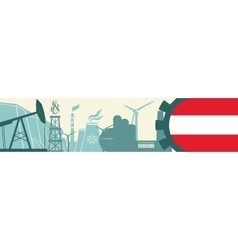 Energy and Power icons set Austria flag vector
