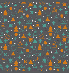 Ethnic geometric seamless pattern abstract tribal vector
