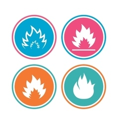 Fire flame icons Heat signs vector image