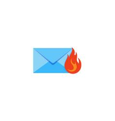 fire mail logo icon design vector image