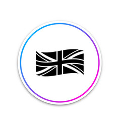 flag great britain icon isolated on white vector image