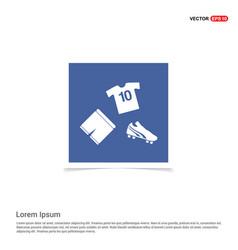 football kit icon - blue photo frame vector image