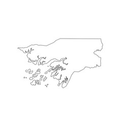 guinea-bissau map silhouette vector image vector image