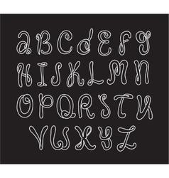 Hand drawn alphabet Doodle letters set White vector