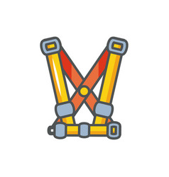 Harness equipment industrial protection safety vector