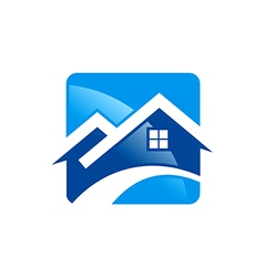 House roof construction icon logo vector