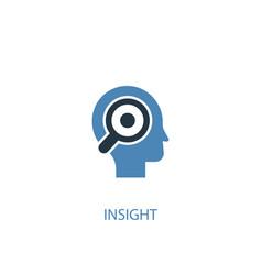Insight concept 2 colored icon simple blue vector