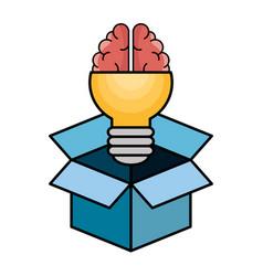 Light bulb and brain design vector