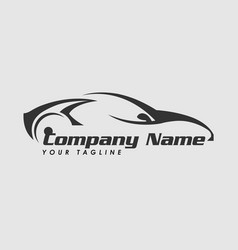 Logo design template for car vector