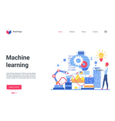 machine ai learning landing page specialist vector image