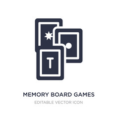 Memory board games icon on white background vector