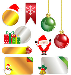 Merry Christmas and New Year promotion label vector image vector image