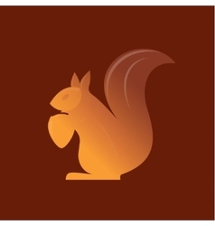 Orange Squirrel on the gradient background vector