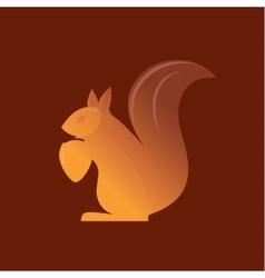 Orange squirrel on the gradient background vector