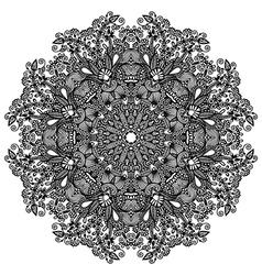 Ornament round ornamental geometric doily pattern vector