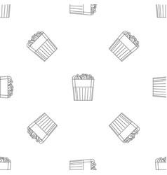 paper popcorn box pattern seamless vector image
