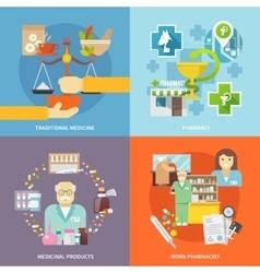 Pharmacist Icons Set vector image