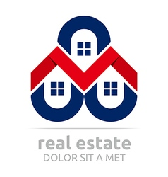 Real estate buiding architecture housing icon vector