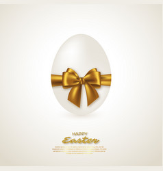 realistic 3d easter egg vector image