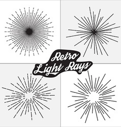 Retro light rays design vector