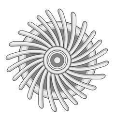 Round ventilator icon monochrome vector