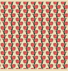 seamless pattern with japan hop plant vector image
