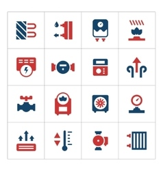 Set color icons of heating vector image