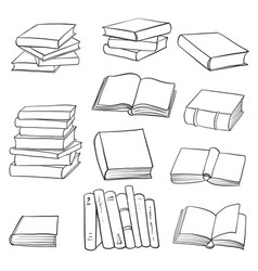 set of drawing books vector image
