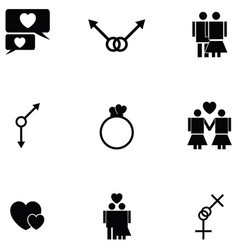 sexual icon set vector image