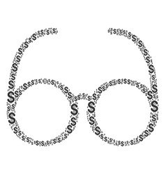 spectacles collage of dollar vector image
