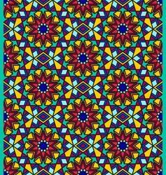 Stained glass multicolor seamless pattern vector