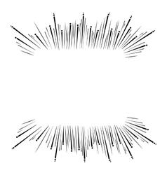 Sun burst frame icon vector