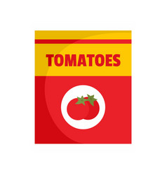 tomatoes can icon flat style vector image