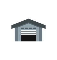 Warehouse icon flat style vector