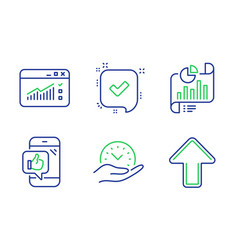 Web traffic report document and mobile like icons vector