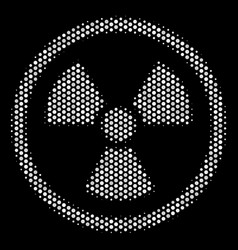 White dotted radioactive icon vector
