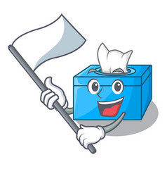 With flag tissue box isolated on the mascot vector