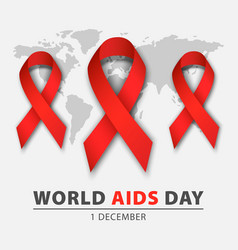 world aids day concept background realistic style vector image