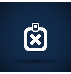 X Mark Icon flat survey reject checklist vector image