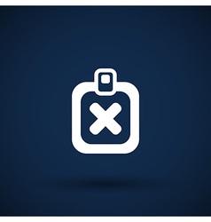 X Mark Icon flat survey reject checklist vector